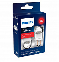 Светодиод Philips W21/5W 2.2/0.3W RED X-tremeUltinon LED gen2 12V (2 шт)